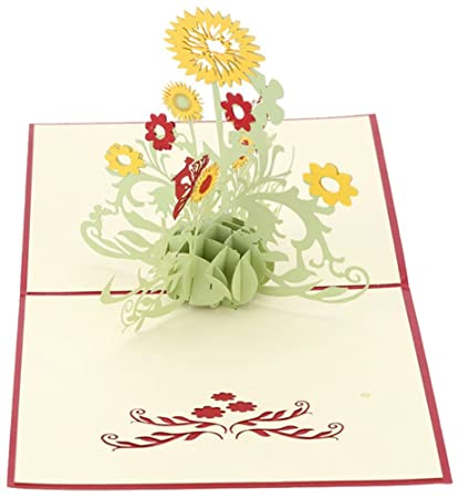 Amazon CocoStore 3D Pop Up Greeting Cards Sunflower Birthday
