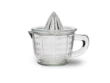 Exprimidor de jugo de vidrio marca Garden Trading, utensilios de cocina