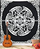 Fairdecor Black and White Meditation Hippie Hippy Wall Hanging Cotton Bedspread Indian Mandala Tapestries