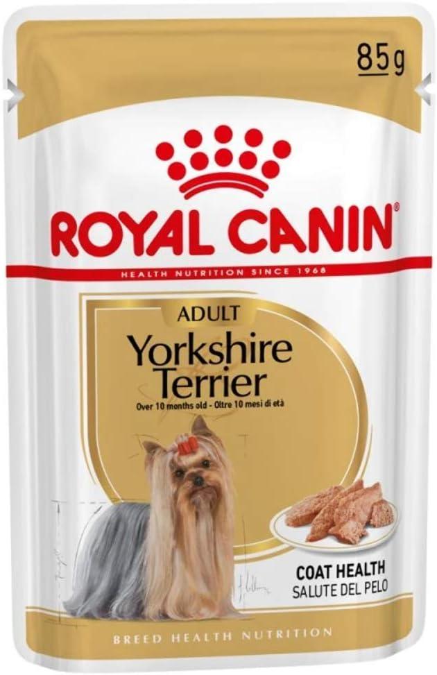 ROYAL CANIN Breed Mini Yorkshire Comida para Perros - Paquete de 12 x 85 gr - Total: 1020 gr