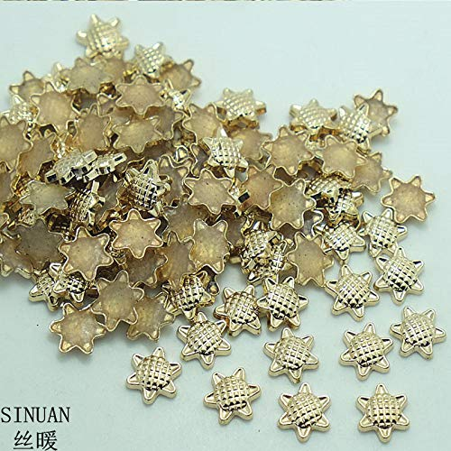 Garment Rivet - Garment Rivets Hot-Fix Rivets Studs Flower Metal Rivets 9Mm Metal Spikes Plating Antique Brass/Antique Zinc Studs Craft - (Color: Antique Copper)
