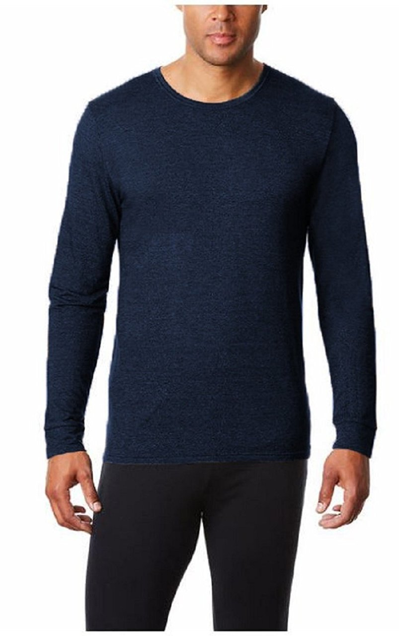Weatherproof 32 Degree Mens Long Sleeved Base Layer, Navy, XL