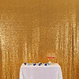 3E Home 10FT x 20FT Sequin Photography Backdrop Curtain for Party Decoration, Gold