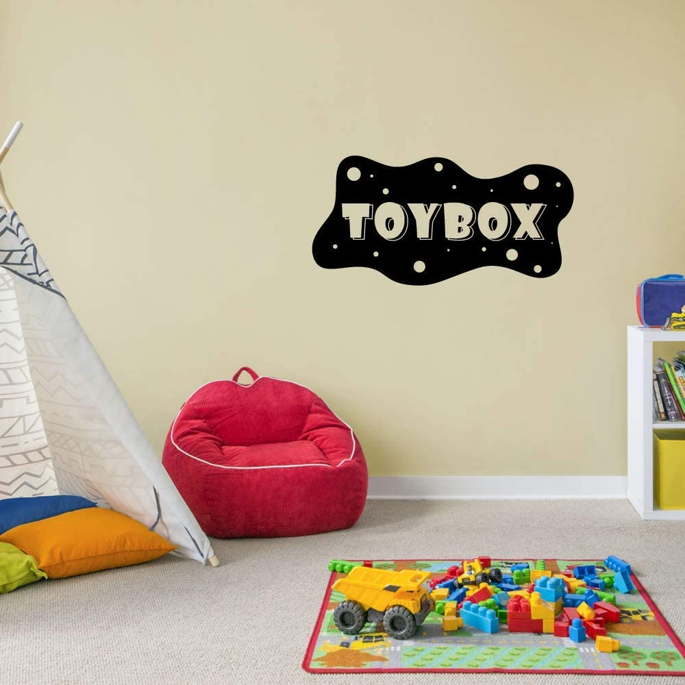8x10 inch Space Universe Toy Chest Toy Box Toys Label Sticker Art Decal for Kids Room Playroom Playground Playhouse Nursery Kindergarten House Fun Home Decor Stickers Wall Art Vinyl Decoration Size