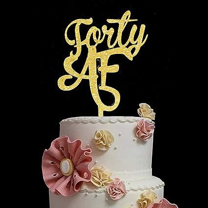 Decoración para tartas de 40 años con purpurina dorada para ...