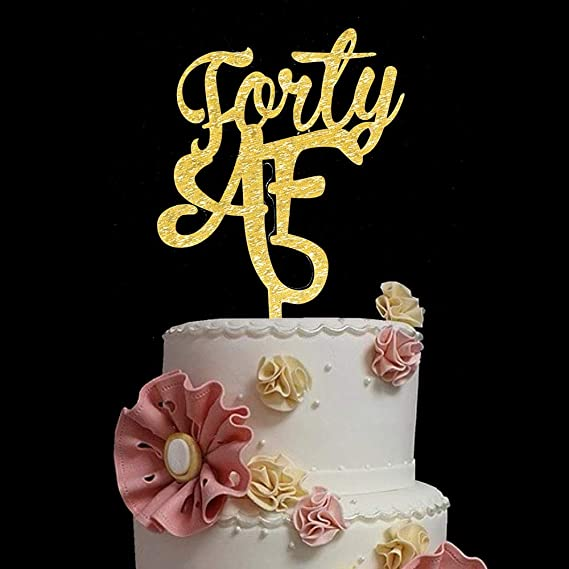 Super Forty Af Cake Topper For 40Th Birthday Party Decorations 40 Years Personalised Birthday Cards Petedlily Jamesorg