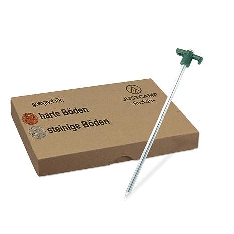low priced b261b a6b68 JUSTCAMP Rocklin Picchetti Tenda Terreno Duro - 25 cm - Dimensioni  dell'imballaggio: 12 pz. / 24 pz. / 48 pz. / 98 pz.