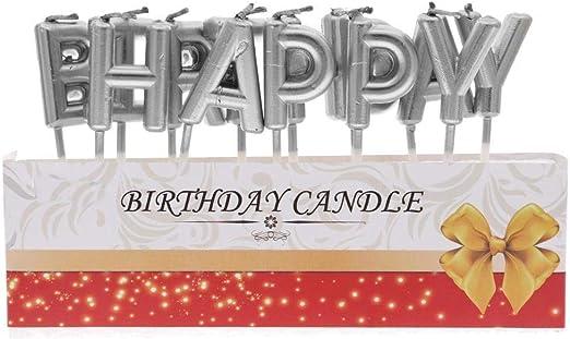 Amazon.com: Decoración Letras izhotta cumpleaños Decoración ...