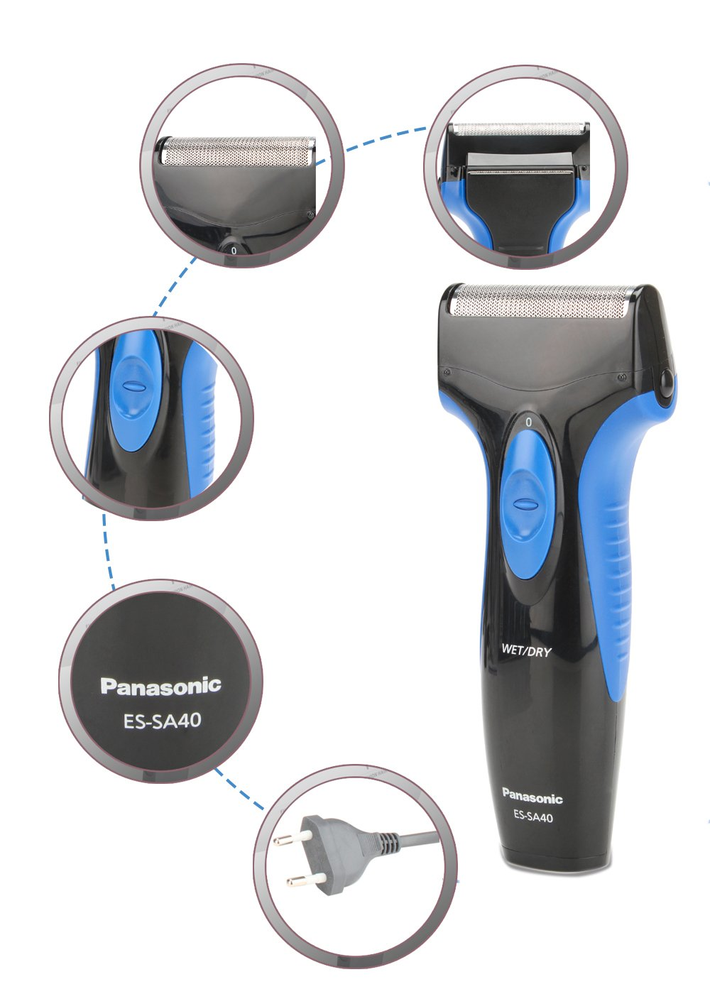 Panasonic ES-SA40-K44B Single Blade Wet and Dry Men's Shaver (Black)