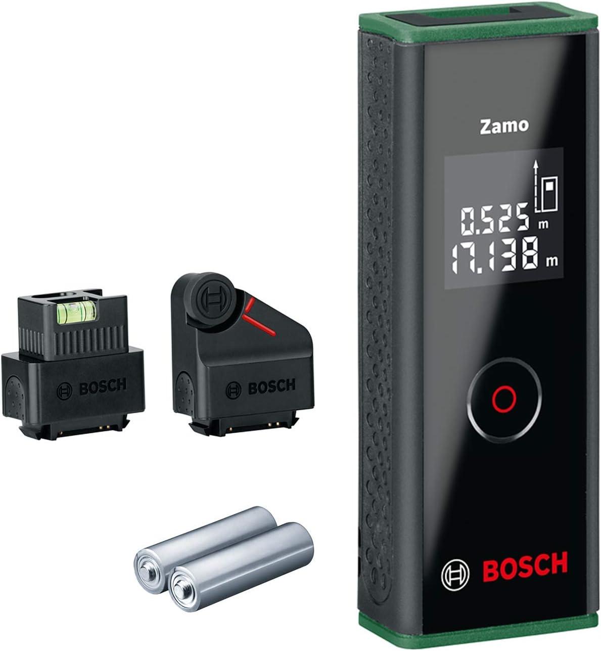 Bosch Home and Garden 0603672707 Bosch Medidor láser de distancias Zamo Set (3.a generación, alcance: 0,15 – 20,00m, en caja), 1.5 V