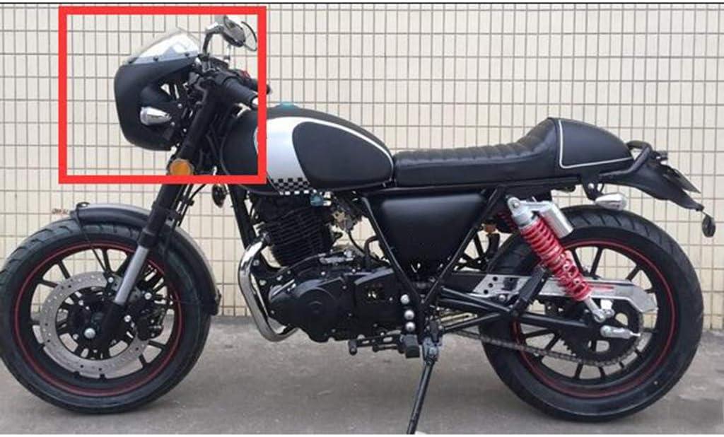 perfeclan Capucha para carenado Cafe Racer con parabrisas faro delantero 16 cm-18 cm negro mate