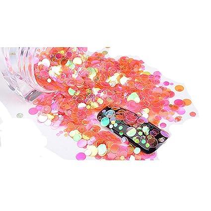 Nail Art - Mini lentejuelas decorativas redondas finas para uñas