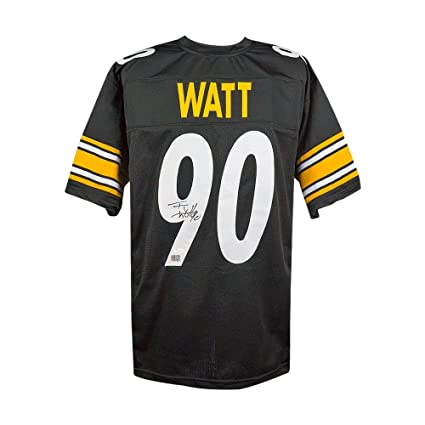 40cd048c9 TJ Watt Autographed Pittsburgh Steelers Custom Black Football Jersey - JSA  COA at Amazon s Sports Collectibles Store