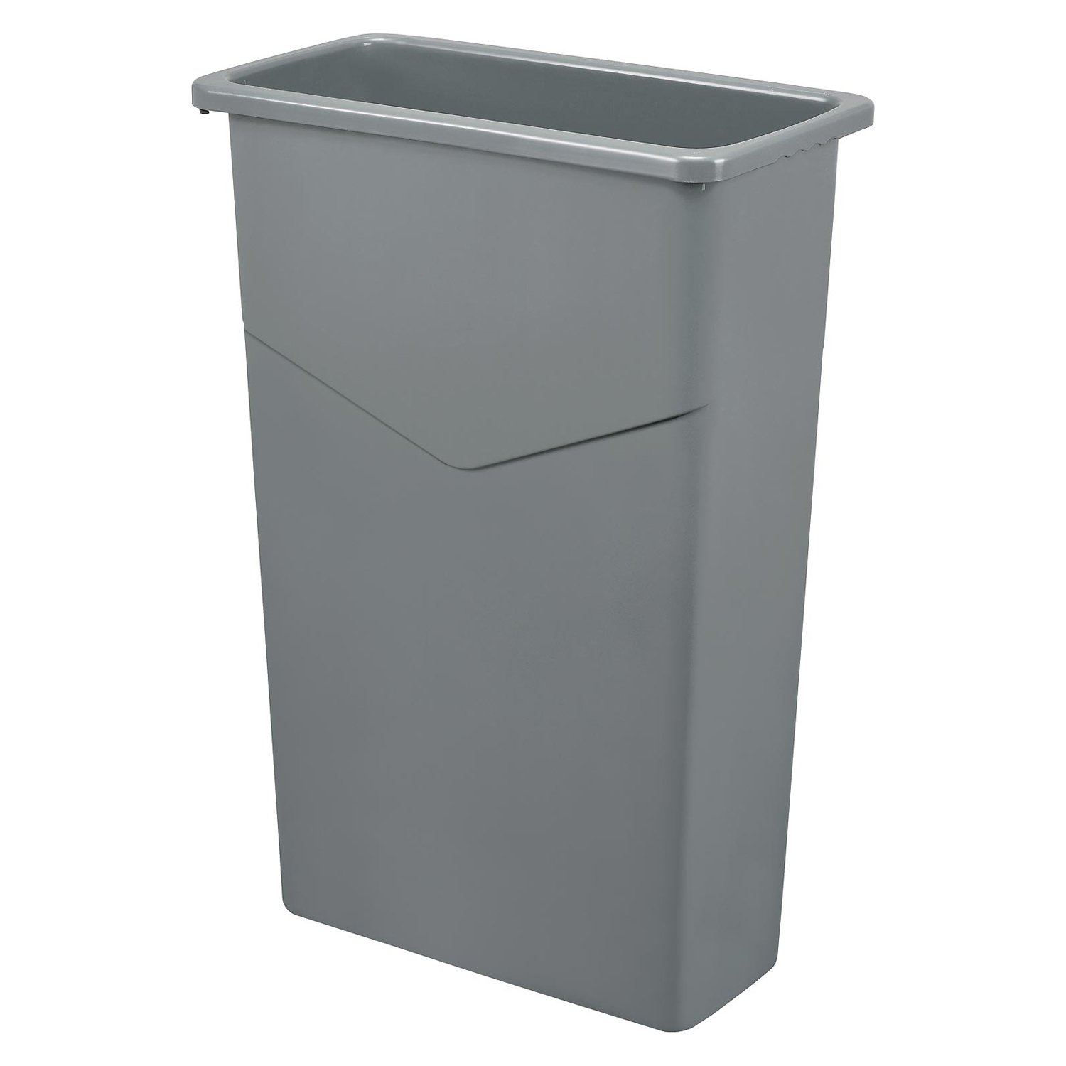 Global Industrial Slim Trash Container, 23 Gallon, Gray