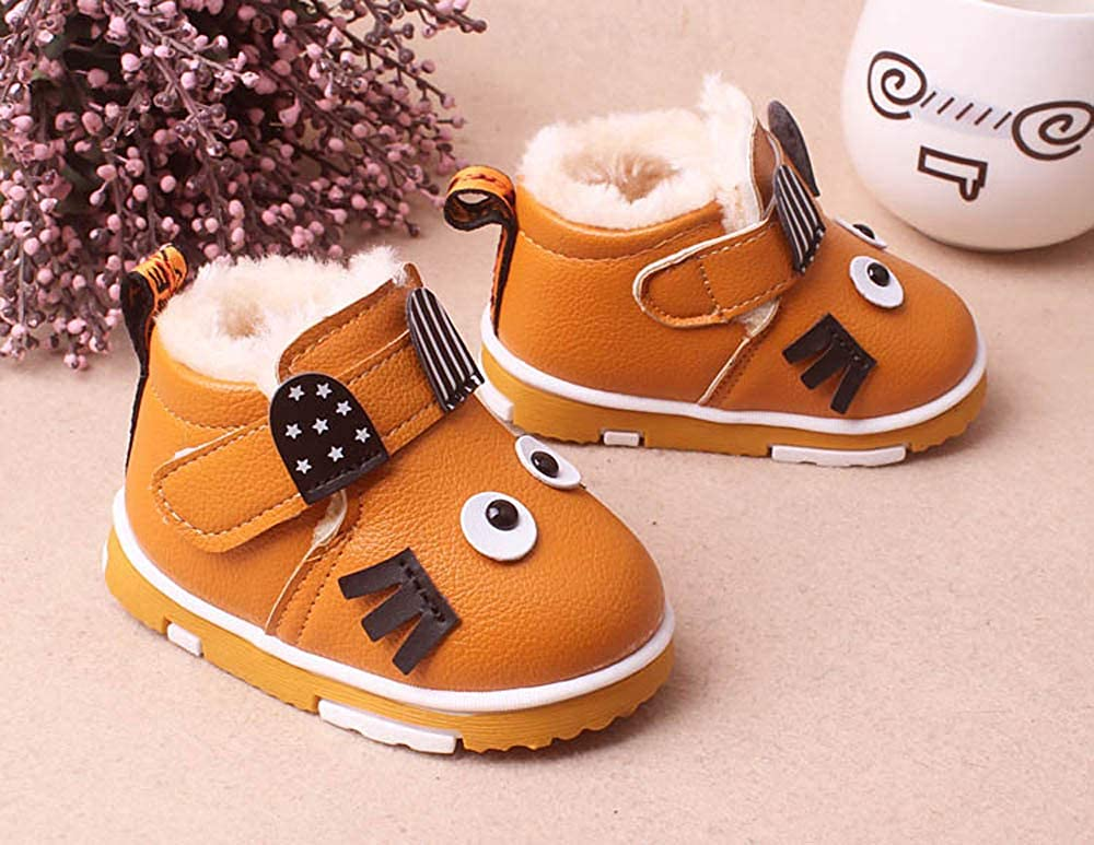 Cute Newborn Baby Girls Boys Moccasins/Fur Flock Rubber Sole Premium Soft Prewalker Boots Shoes