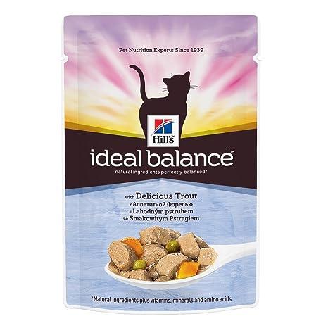 HILLS IDEAL BALANCE cositas equilibrio ideal trucha 85gr Comida mojado gatos