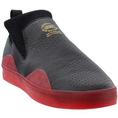 Amazon.com   adidas 3ST.002 Nakel Skate Shoes Black Scarlet   Skateboarding