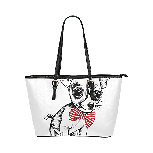 Lindo Happy Dog Wear Corbata cuero grande Portátil Mango superior ...