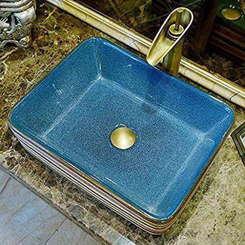 クラシック長方形洗濯ハンズプール洗面台の上カウンター盆地浴室のシンクセラミックバスルームシンク