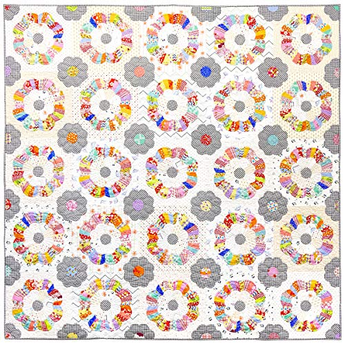Windchime Quilt Pattern by Sue Daley Designs EPP English Paper Piecing Starter Kit Papers and Templates. Patchwork Sewing