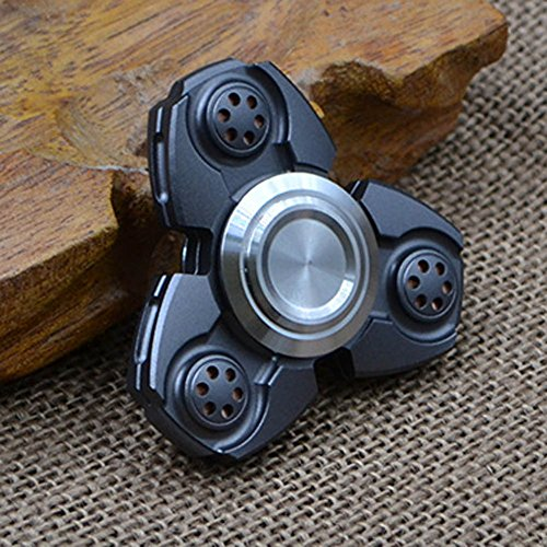 Nuofeng Tri-Spinner Fidget Toy EDC Fidget Spinners Hand Spinners Anxiety Relief Toys Ceramic Bearing (Gun-color 11)