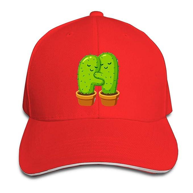 Zhgrong Gorra de béisbol de algodón Personalizada Cactus Hug ...