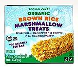 organic rice krispies - Trader Joe's Organic Brown Rice Marshmallow Treats: Gluten Free, Vegan, Low Sodium, Kosher - 5 Snack Bars