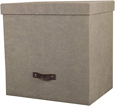 Caja de información de la Caja de Almacenamiento casera Retro de la Oficina Archivo Grande Tiene Cubierta: Amazon.es: Hogar