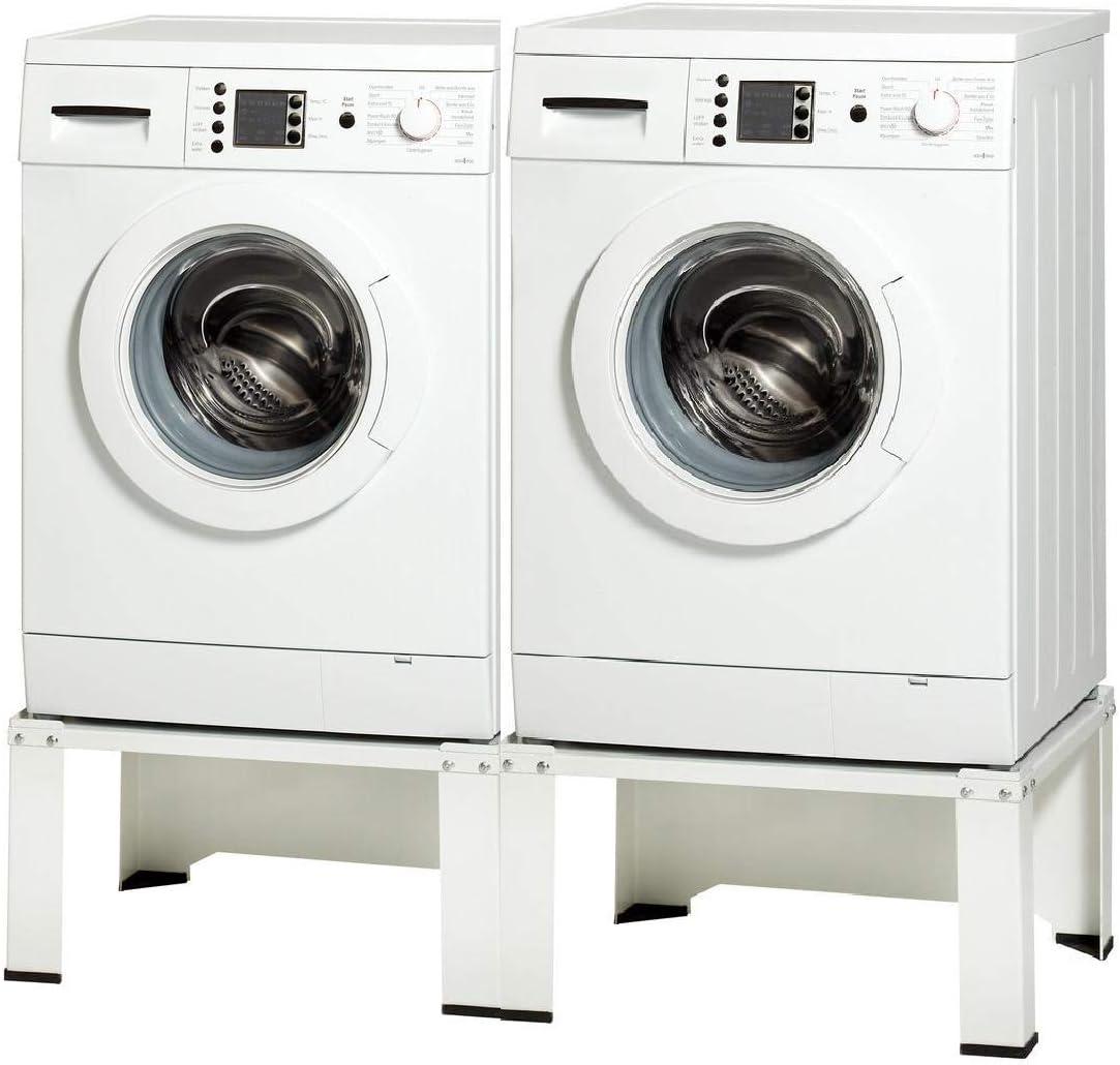 VidaXL Supporto Alzatina per Lavatrice Bianco Accessori elettrodomestici