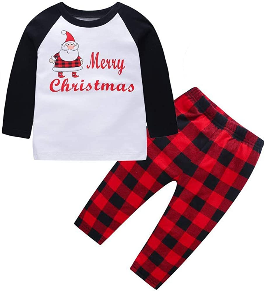 Fossen Kids Pijamas Navideños Familiares, Conjunto de Pijama ...