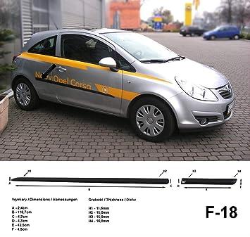 Spangenberg 370001809 - Listones de protección Lateral para Opel Corsa D Hatchback de 3 Puertas (