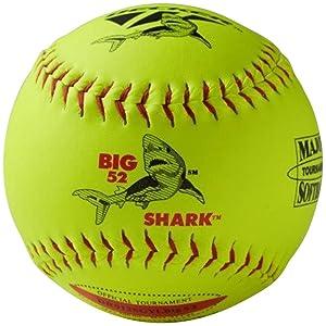 Decker ASA Red Shark Big 52 Slow Pitch Softball 6 Ball Pack