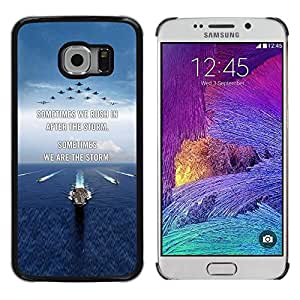 Be Good Phone Accessory // Dura Cáscara cubierta Protectora Caso Carcasa Funda de Protección para Samsung Galaxy S6 EDGE SM-G925 // I love you moon text sunset beach ocean