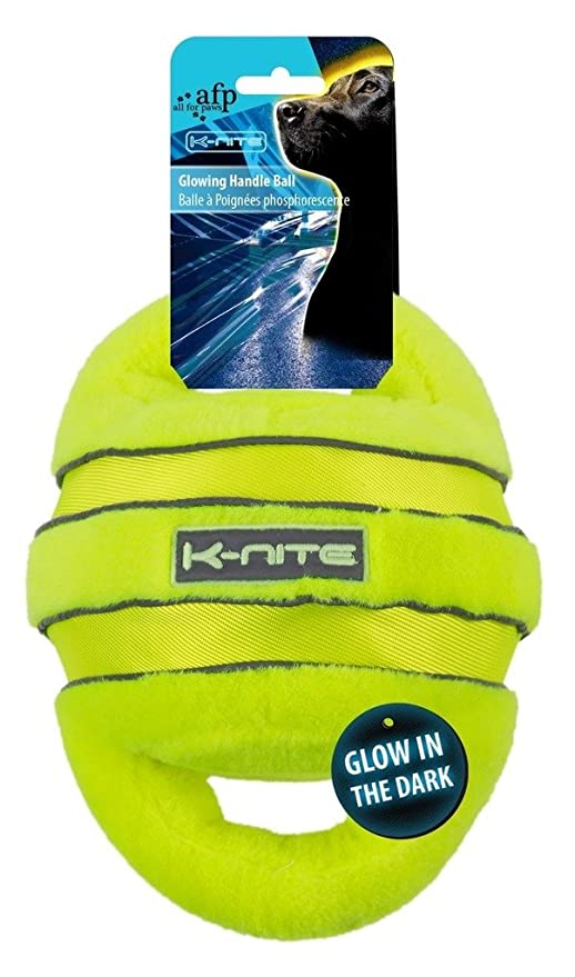 ALL FOR PAWS AFP3320 Pelota con Asa Brillante y Fluorescente K ...