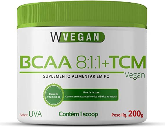 BCAA + TCM 200g 200 gramas Sabor Uva WVegan Vegan (Uva)