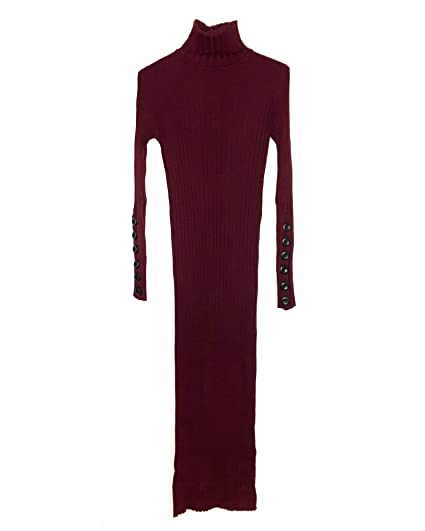 a1a0e740e37 Zara Women's Long Ribbed Dress 3471/005 Red: Amazon.co.uk: Clothing