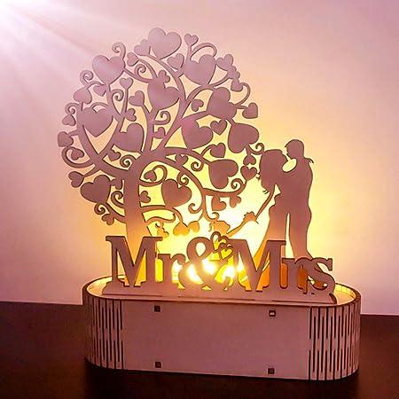 dyudyrujdtry Elaborado Letrero de Boda Mr&Mrs i Love You ...