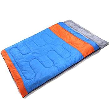 RFVBNM Saco de dormir doble pareja primavera y otoño invierno engrosamiento camping exterior saco de dormir adulto 200 * 150 cm, azul: Amazon.es: Deportes y ...
