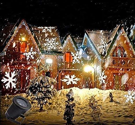 Amazon com: Z Christmas Moving LED Snowflake Lights