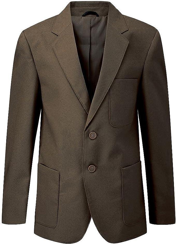 Boys Brown Beau Brummel Viscount Polyester Machine Washable School Blazer