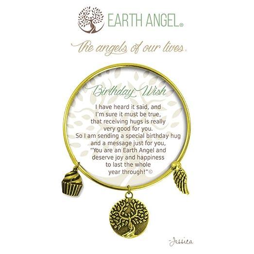 Amazon earth angels birthday wishes bangle bracelet in antique earth angels birthday wishes bangle bracelet in antique brass gold color m4hsunfo