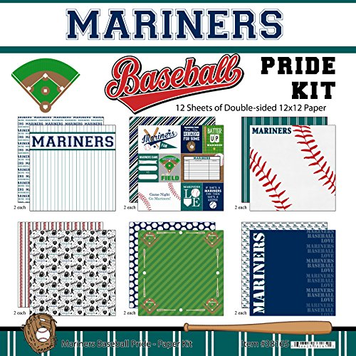 (Scrapbook Customs Mariners Pride Baseball Scrapbook Kit)
