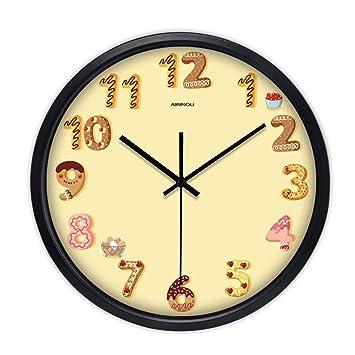 Relojes personalizados reloj de pared sala de estar moderna creativa dormitorio mudo restaurante simple reloj de bolsillo reloj de cuarzo 12 pulgadas 14 ...
