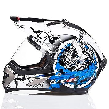 Amazon.es: Casco de Motocicleta de Cuatro Ruedas para Adultos Off-Road Mototbike Profesional Flip Up Full Face Moto Motocross Cascos de Seguridad XXL
