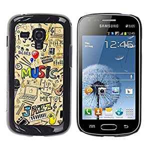 LOVE FOR Samsung Galaxy S Duos S7562 MUSIC JAZZ PATTERN Personalized Design Custom DIY Case Cover