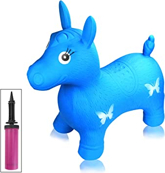 Amazon.com: UPlama Blue Hopping - Juguete inflable con bomba ...
