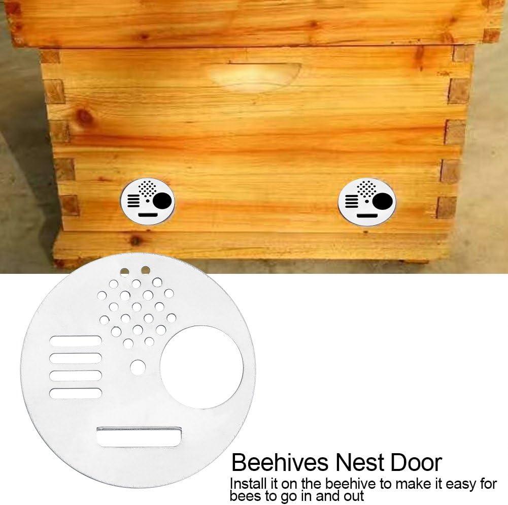 6pcs Hive Door Beekeeping Beekeeper Box Plastic Entrance Disc Bee Nest Gate JB