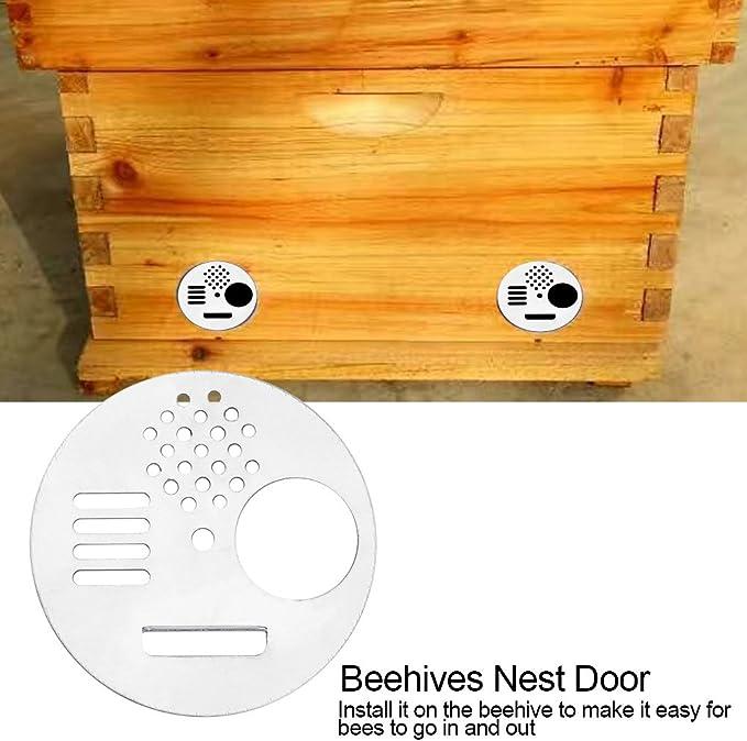 12X Plastic Bee Nest Door Bee Hive Nuc Box Entrance Gate Tool Entrance Disc
