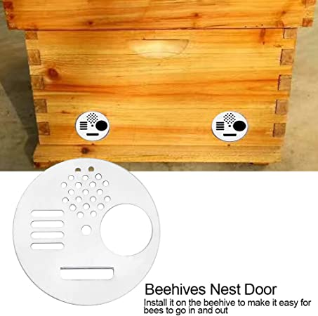 30pcs Rotating Anti-escape Bee Hive Entrance Entry Gate Bee Nest Door Vent