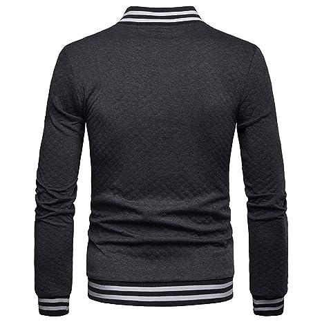 Camisas de Hombre Slim fit Botón de celosía Empalme de Bolsillo Pull-Over Manga Larga Camisa de Entrenamiento Tops Blusa 2019: Amazon.es: Ropa y accesorios
